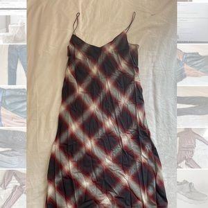 Vince plaid maxi dress